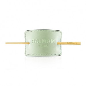 Limited Edition Pastel Green Embossed Hair Barrette SS20