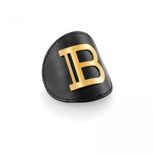 Limited Edition Genuine Leather Hair Clip Gold FW20