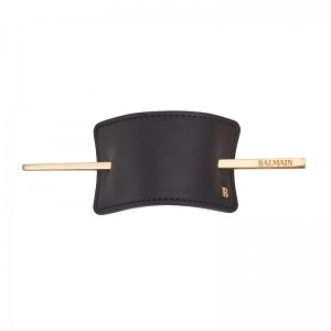 Hair Barrette Black Leather · Limited Edition ·