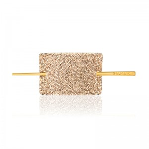 Limited Edition Crystal Gold Hair Barrette FW20