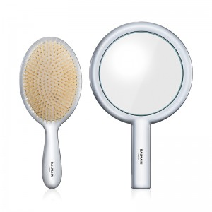 Limited Edition Silver Spa Brush & Hand Mirror